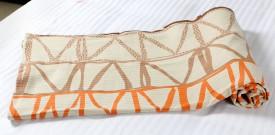 Mosgard Embroidered Single Blanket Beige
