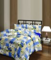 Blankets World Checks With Blue Flowers Ac Floral, Checkered Blanket - Single