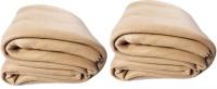 Kema Plain Single Blanket Beige Fleece Blanket, 2 Polar Fleece Blanket