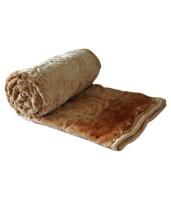 Fab Ferns Plain Single Blanket Cream Mink Blanket, Blanket