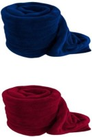 RS Quality Plain Single Quilts & Comforters Blue And Red, 2 Blanket