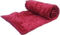 Fab Ferns Plain Single Blanket Pink Mink Blanket, Blanket