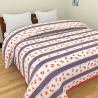 Spangle Floral Double Dohar Multicolor AC Blanket, 1 Cotton Double Bed Dohar