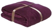 SWHF Plain, Self Design Single Throw, Blanket, Dohar Purple 1 French Fleece Single Throw
