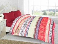 Fabutex Geometric Double Quilts & Comforters Multi-colored, 1 Fleece Blanket