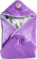 My NewBorn Cartoon Crib Hooded Baby Blanket Purple (1 Blanket)
