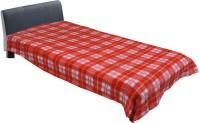 Home Fashion Galery Checkered Single Blanket Red Fleece Blanket, 1 Blanket