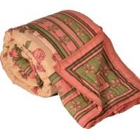 Little India Pink FloralPrint Jaipuri Coton Double BedQuilt Modern Ethnic Quilt Double