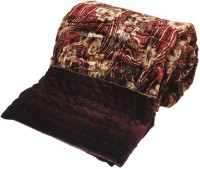 Little India Ethnic Floral Maroon Double Bed Velvet Quilt Modern Ethnic Quilt Double