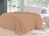 Trendy Home Plain Pack Of 2 Solid Single Blanket (Fleece, Beige)