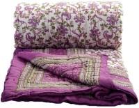 Krg Enterprises Floral Single Blanket Multicolor Jaipuri Quilt Single Bed Razai - BLAEDNYHBS36GHFE