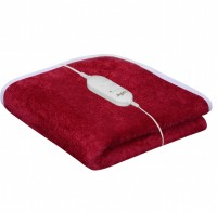 Warmland Plain Single Electric Blanket Maroon, Electric Bed Warmer