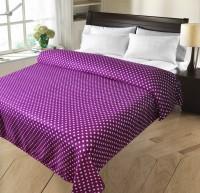 Christy's Collection Geometric Double Fleece Blanket Purple