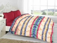 Fabutex Striped Double Blanket Multi-colored Fleece Blanket, 1 Fleece Blanket