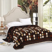 Home Originals Geometric Double Coral Blanket Brown Geometric