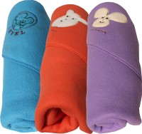 My NewBorn Cartoon Single Blanket Light Blue, Red, Purple (Pack Of 3 Classic Polar Fleece Hooded Pink Sky Blue, Tomato Red And Purple Blankets)