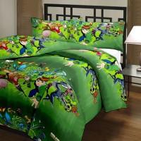 Lee-Dezire Ben 10 Geometric Single Blanket (Multicolor)