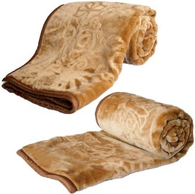 Home India Abstract Double Blanket Brown
