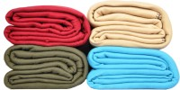Kema Plain Single Blanket Multicolor Fleece Blanket, 4 Polar Fleece Blanket - BLAEF26ZGJXUHKTJ