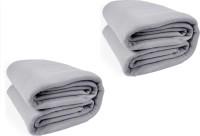 Kema Plain Single Blanket Silver Fleece Blanket, 2 Polar Fleece Blanket