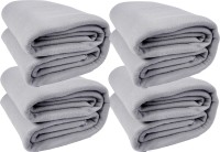 Kema Plain Single Blanket Silver Fleece Blanket, 4 Polar Fleece Blanket