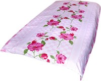 Animated&Florals Floral, Checkered, Geometric Single Dohar Pink, White AC Blanket