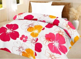FINCH FEATHER Floral Double Dohar Red, Pink