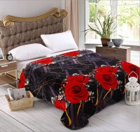 Home Originals Floral Double Coral Blanket Red Floral