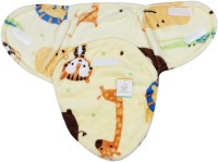 Ole Baby Baby Tiger,Giraffe And Line Double Side Print Comfortable Swaddle Blanket, Adjustable Infant Wrap With Velcro Closure , Soft Furry.0-6 Months Sleeping Bag (Multicolor)