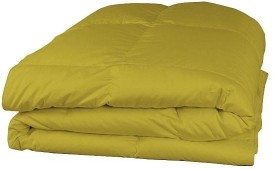 LNT Plain Double Quilts & Comforters Gold