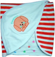 Tiny Care Baby Hooded Towel Orange Stripes Blanket (Single)