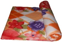 Lakshay Checkered Double Fleece Blanket Orange