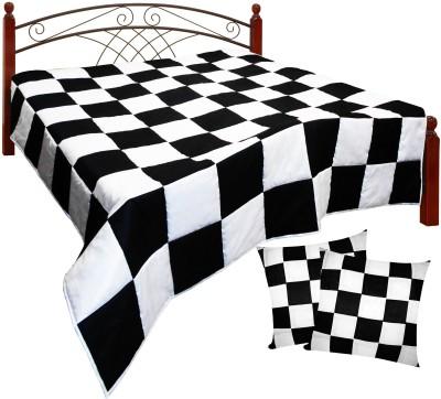 Get best deal for Zikrak Exim Patch Work ZE-11 Checkered King Quilt Beige, Brown at Compare Hatke