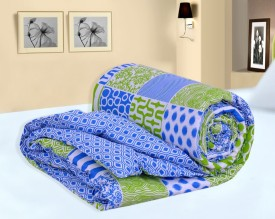Salona Bichona Abstract Single Quilts & Comforters Blue