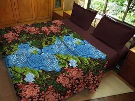 Hemlines Floral Double Dohar Brown, Green, Blue