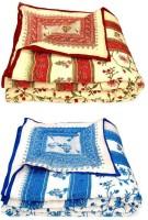 Ocean Enterprises Floral Double Quilts & Comforters Red & Blue Red & Blue Floral Cotton Quilt