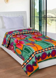 Trendz Home Furnishing Abstract Single Blanket Multicolor
