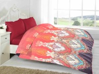 Fabutex Abstract Double Blanket Red, 1 Fleece Blanket