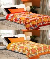 Home Originals Floral Single Blanket Multicolor Fleece Blanket, 2 Single Bed AC Fleece Blanket