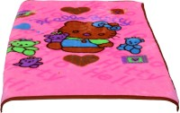 Light Gear Cartoon Crib Mink Blanket Multicolor (Set Of 2 Blankets)