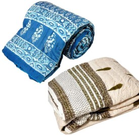 Little India Abstract Single Quilts & Comforters Blue