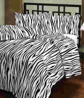 Ayushi Craft & Fashions Black Zebra Printed Single Blanket (Fallalin, Multicolor)