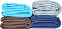 Kema Plain Single Blanket Multicolor Fleece Blanket, 4 Polar Fleece Blanket - BLAEF26PCFZ4GSHH
