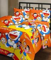 Ayushi Craft & Fashions Doremon Orange Printed Single Blanket (Fallalin, Multicolor)