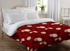 Bella Casa Floral Single Quilts & Comforters Maroon