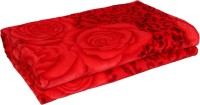 Gujattire Floral Double Blanket Red Fleece Blanket, Blanket