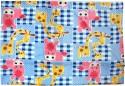 U & ME Animal Print Covering Sheet(DOHAR)With Side Velcro Blue Receiving Blanket - Single