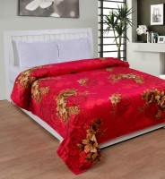 Bed & Bath Floral, Abstract Double Blanket Red, Brown, Blanket