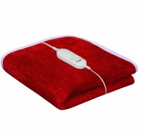 Warmland Plain Single Electric Blanket Red, Electric Bed Warmer