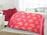 Fabutex Floral Double Quilts & Comforters Red, 1 Blanket